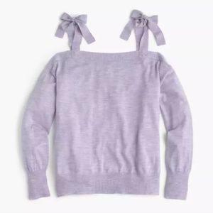J. Crew Merino Wool Cold Shoulder Sweater XXS